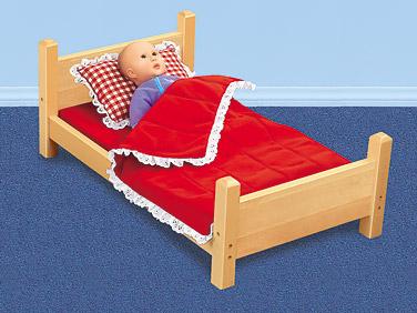 Lakeshore Hardwood Doll Bed at Lakeshore Learning.