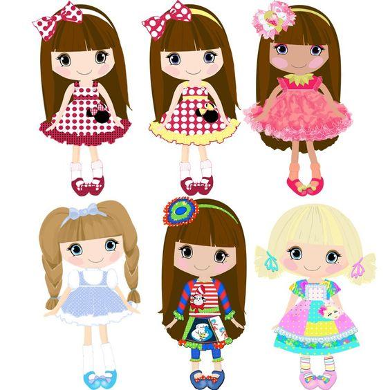 Dolls Clipart.