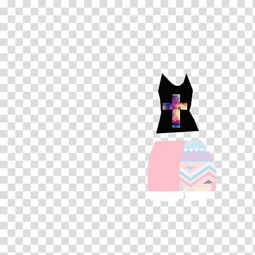 Ropa para dolls, black top and pink shorts illustration.