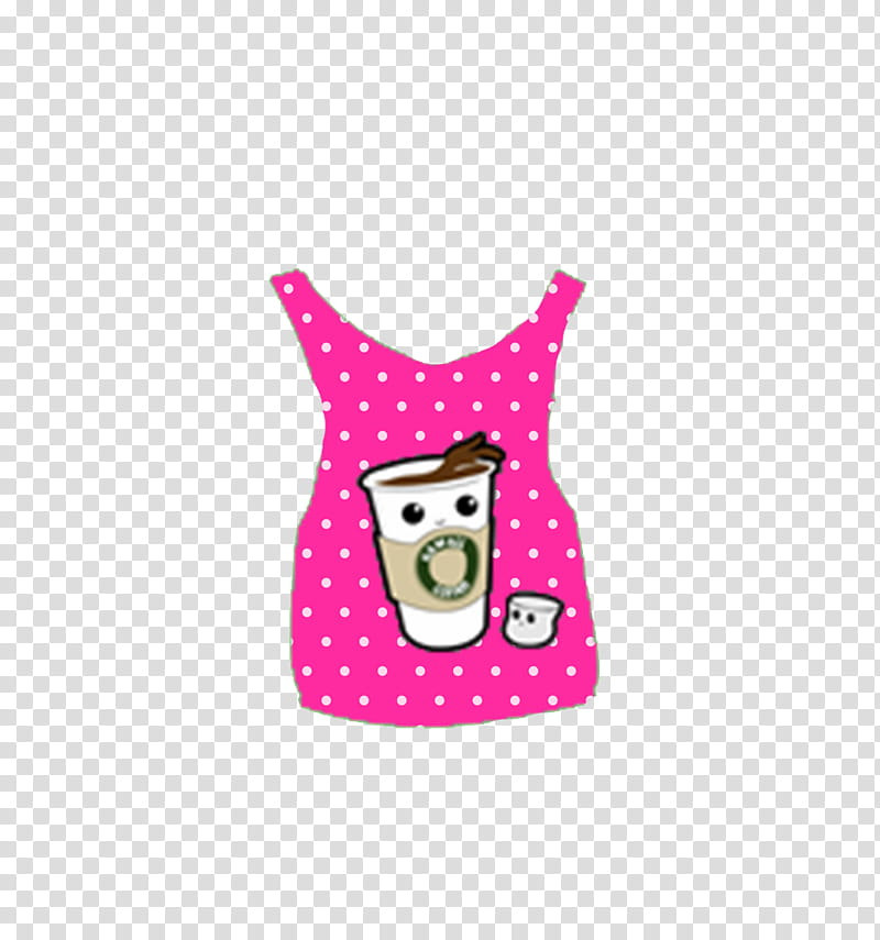 Super de ropa Para Dolls, pink and white tank top.