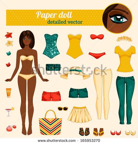 Cut Out Doll Stock Vectors, Images & Vector Art.