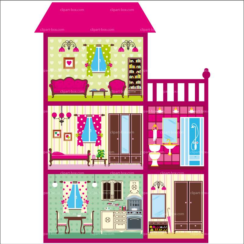 Doll House Free Clip Art.