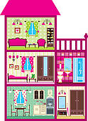 Doll house Clip Art Royalty Free. 264 doll house clipart vector.