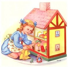 Doll House Toys Clip Art.