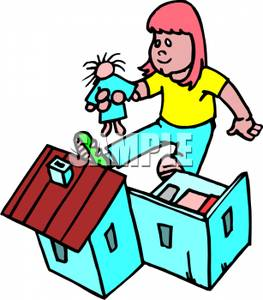 Doll house clipart.