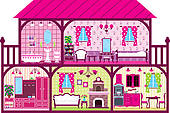 Doll house Clip Art Royalty Free. 264 doll house clipart vector.