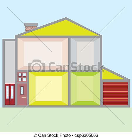 Clip Art Vector of Doll House vector illustration csp6305686.