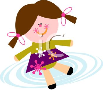 Royalty Free Clip Art Image: Christmas Doll with Snowflakes.
