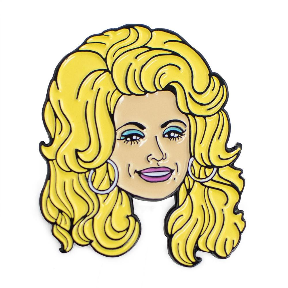 Dolly Parton Enamel Pin: Amazon.co.uk: Jewellery.
