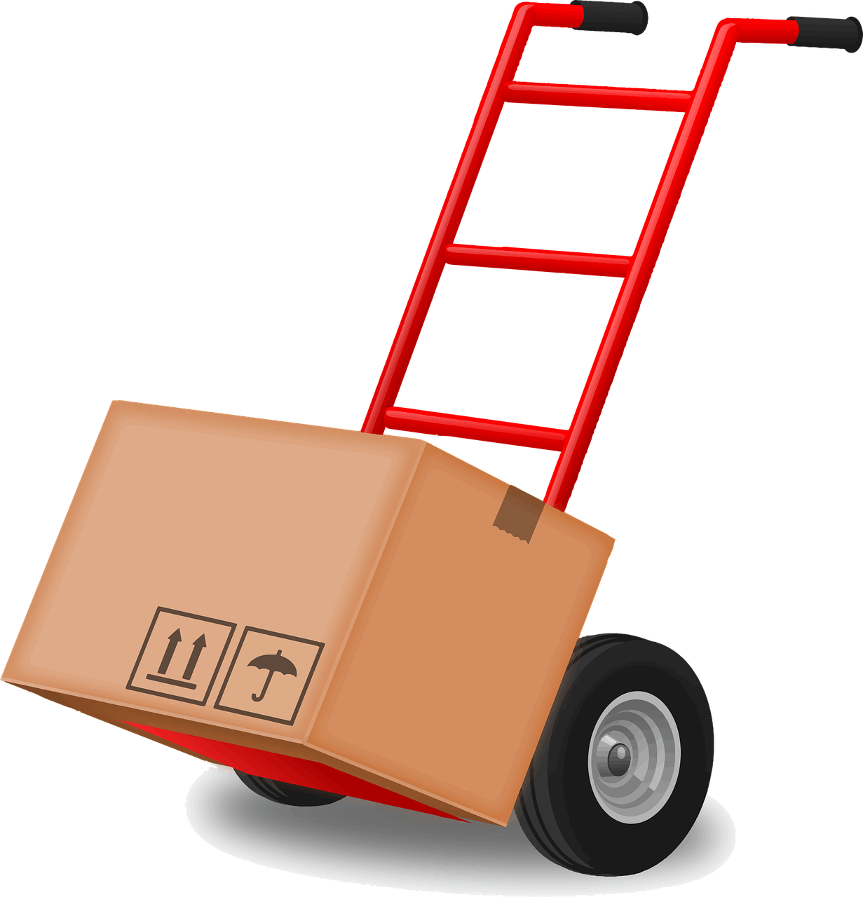 Carry Dolly Hand Truck Tool PNG.