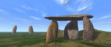 Dolmen Stock Illustrations.