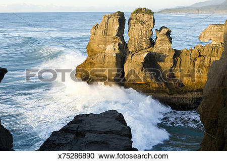 Stock Photography of Pancake Rocks at Dolomite Point x75286890.
