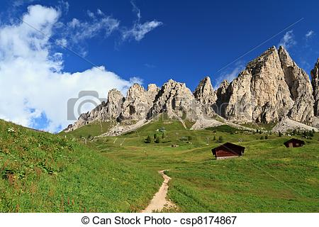 Stock Illustrations of Cir Dolomites.