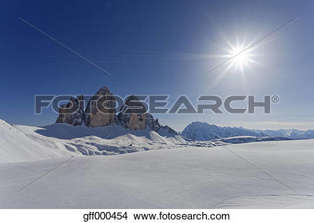 Stock Photo of Italy, Alto Adige, Sexten Dolomites, Hochpuster.