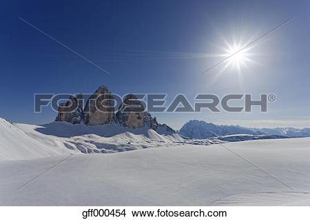 Stock Photo of Italy, Alto Adige, Sexten Dolomites, Hochpuster.