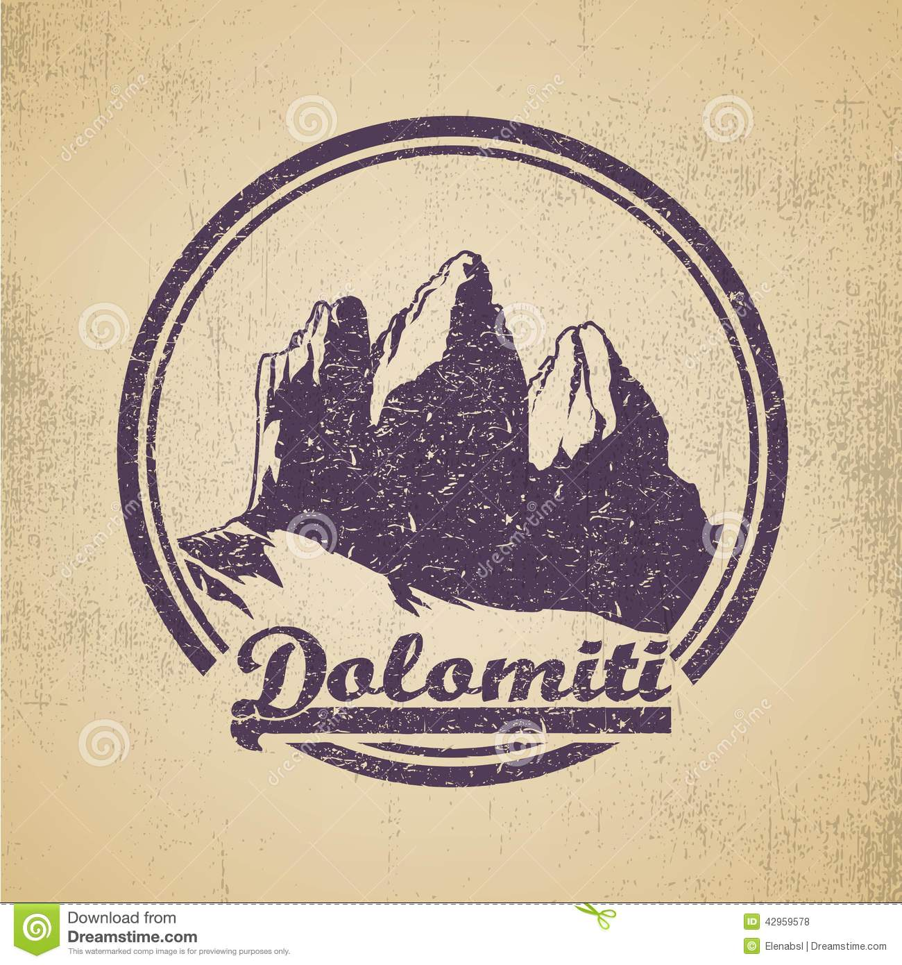 Dolomiti Stock Vector.
