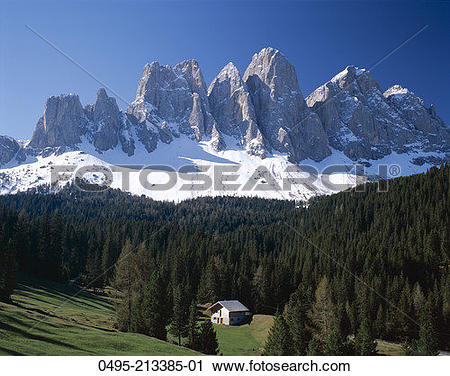 Stock Photography of Italy, Dolomites Mountains (Dolomiti.