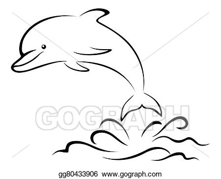 Dolphin black and white clipart 3 » Clipart Station.
