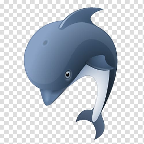 Pufferfish Dolphin ICO Icon, Cartoon dolphin transparent.