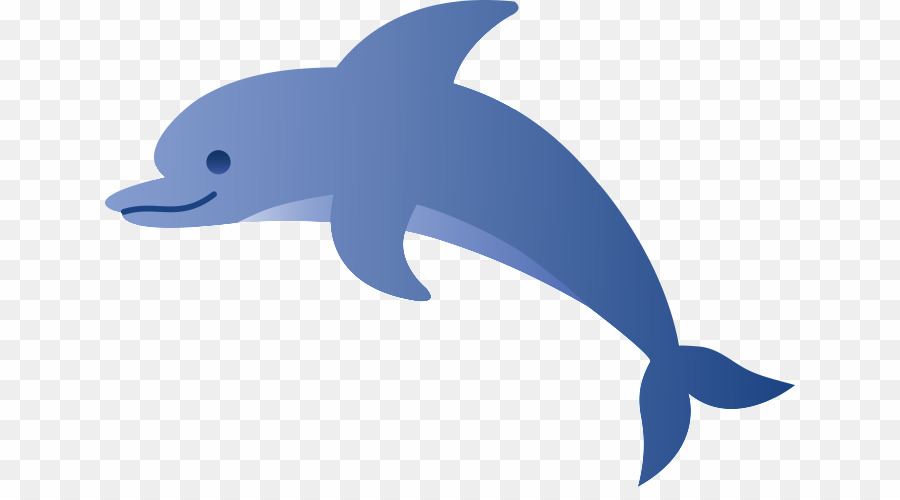 Cartoon Dolphins With Transparent Background PNG Common Bottlenose.