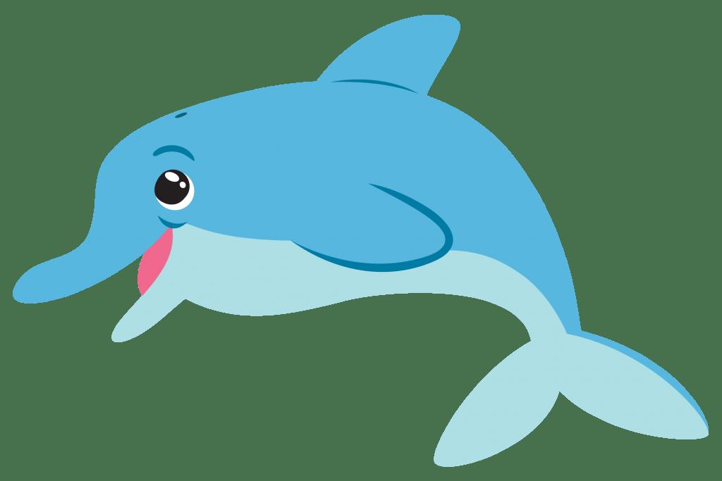 Cartoon Dolphin transparent PNG.