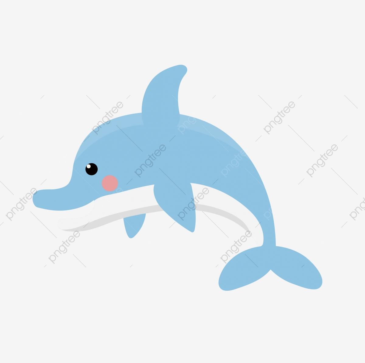 Dolphin Blue Cartoon Cute Cartoon, Lovely, Cute Cartoon, Cartoon PNG.