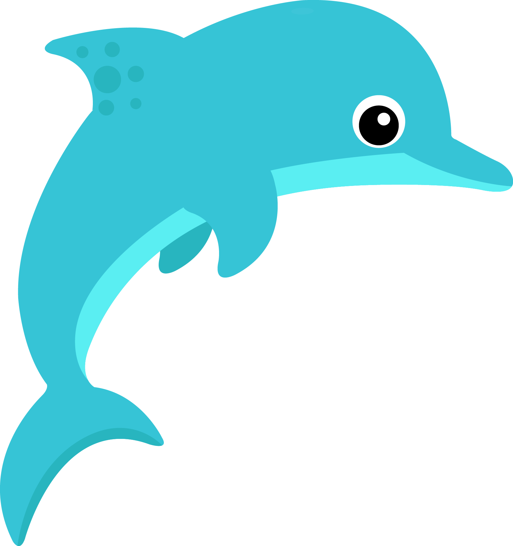 Dolphin Clipart to printable.