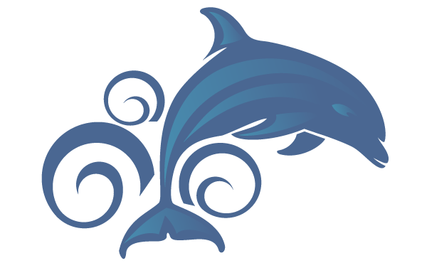 Cute Dolphin Clipart And White Black.