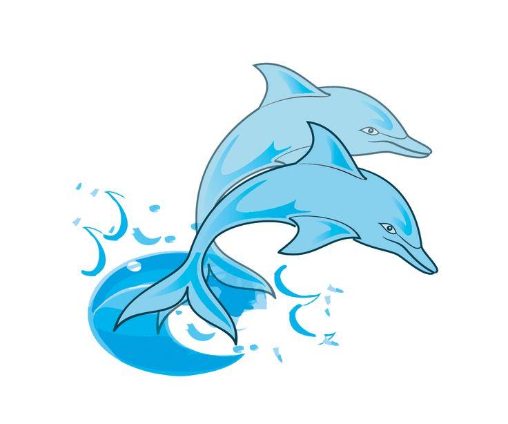 Sad dolphin clipart.
