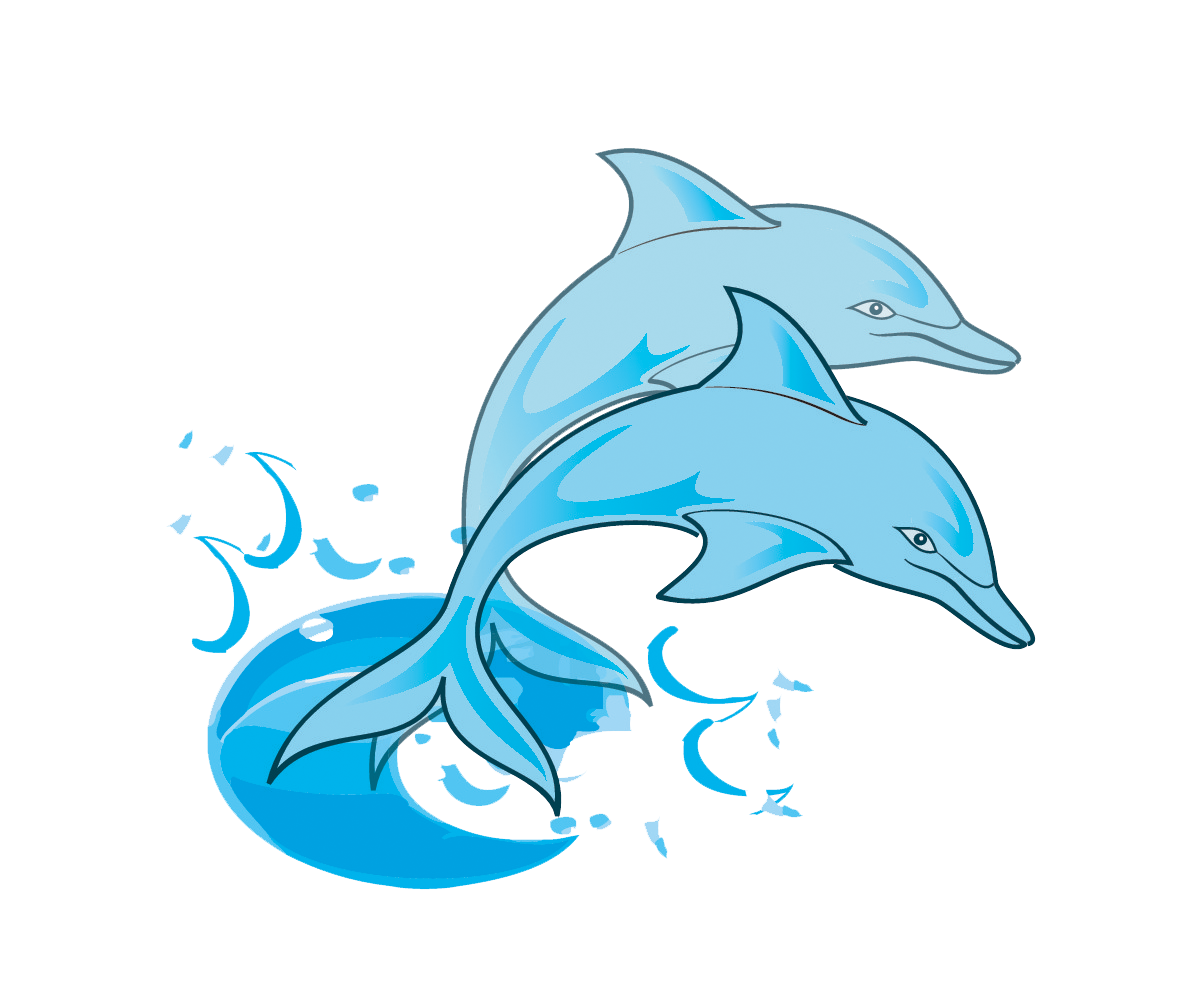Dolphin Clip Art Black And White Free.