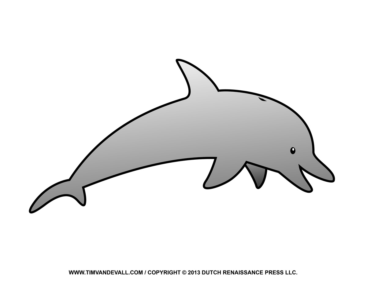 Free Dolphin Clipart, Printable Coloring Pages, Outline & Silhouette.