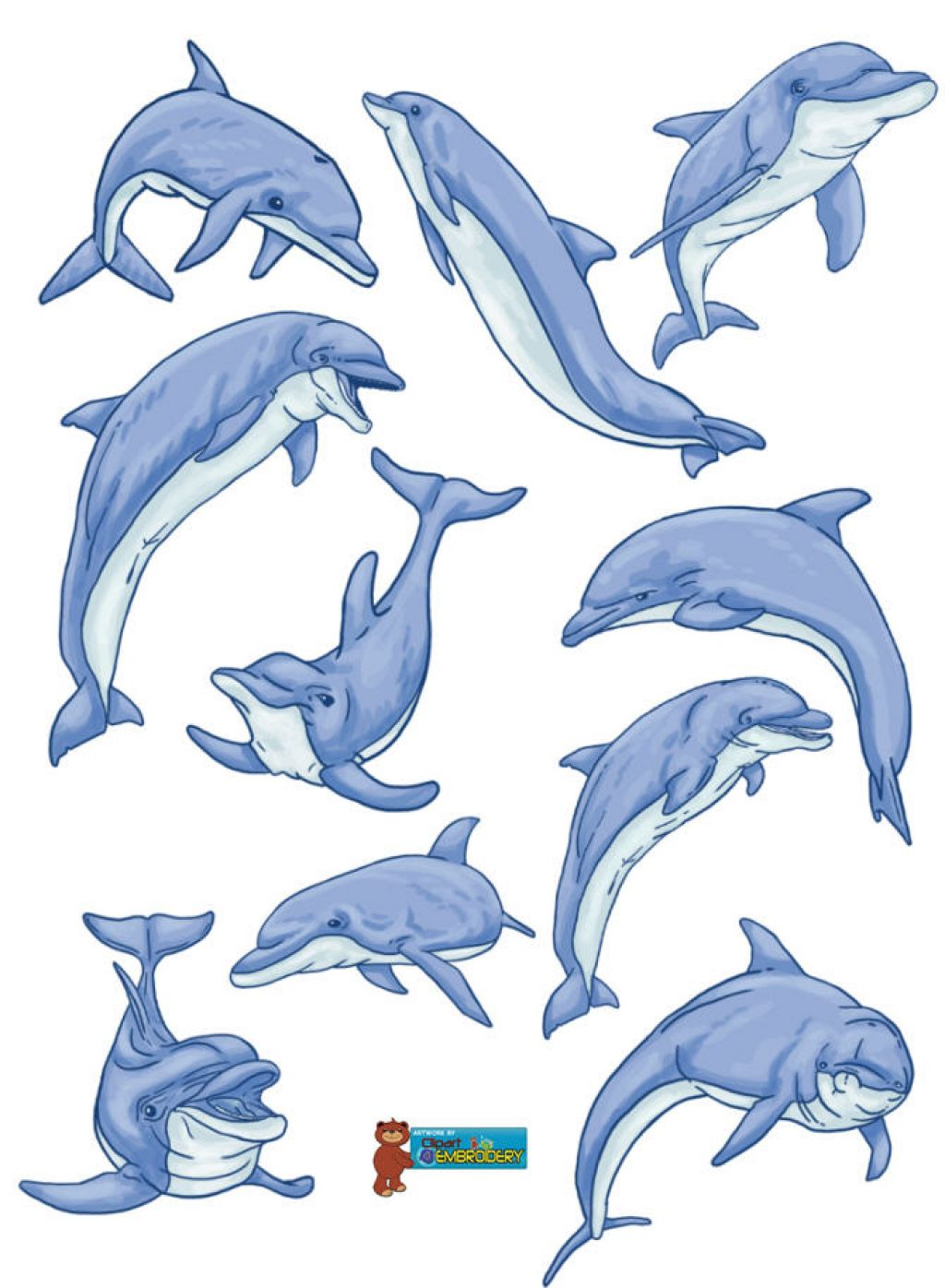 Baby Dolphin Clipart Clipart Kid.