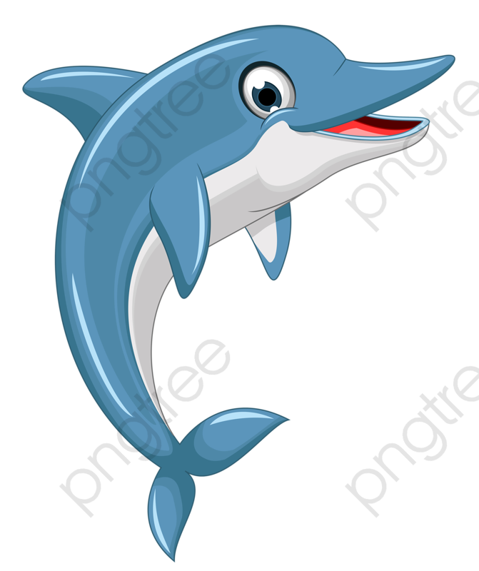 Cartoon Dolphin, Cartoon Clipart, Dolphin Clipart, Lovely PNG.