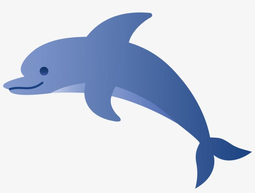 Cartoon Dolphin Image.