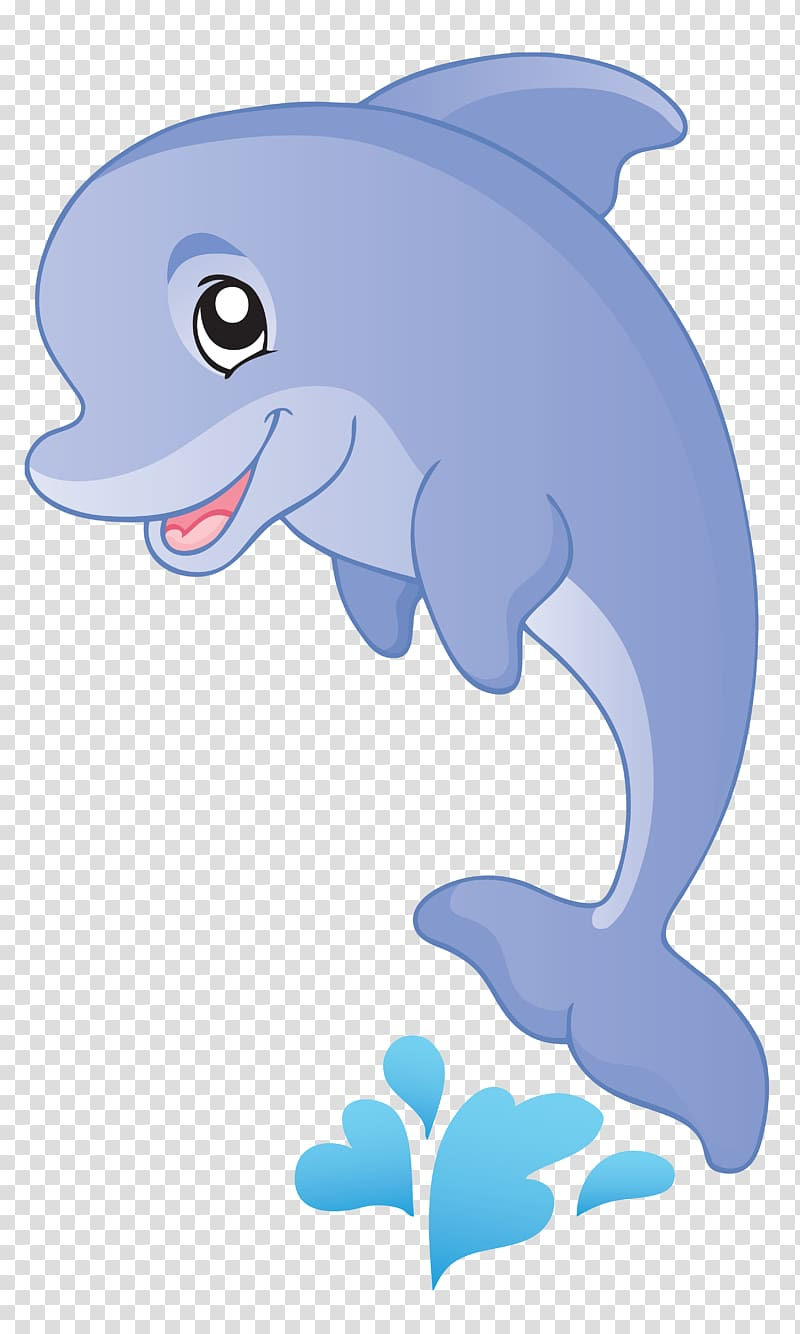 Dolphin illustration, Fish Cartoon Aquatic animal , dolphin.