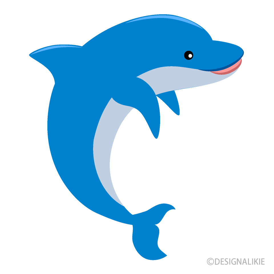 Free Jumping Dolphin Clipart Image|Illustoon.