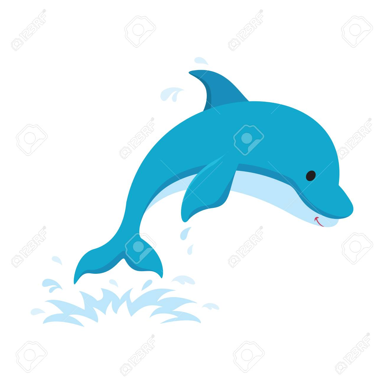 dolphin jumping out of water.