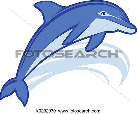 Clipart of Dolphin Mascot k9282970.