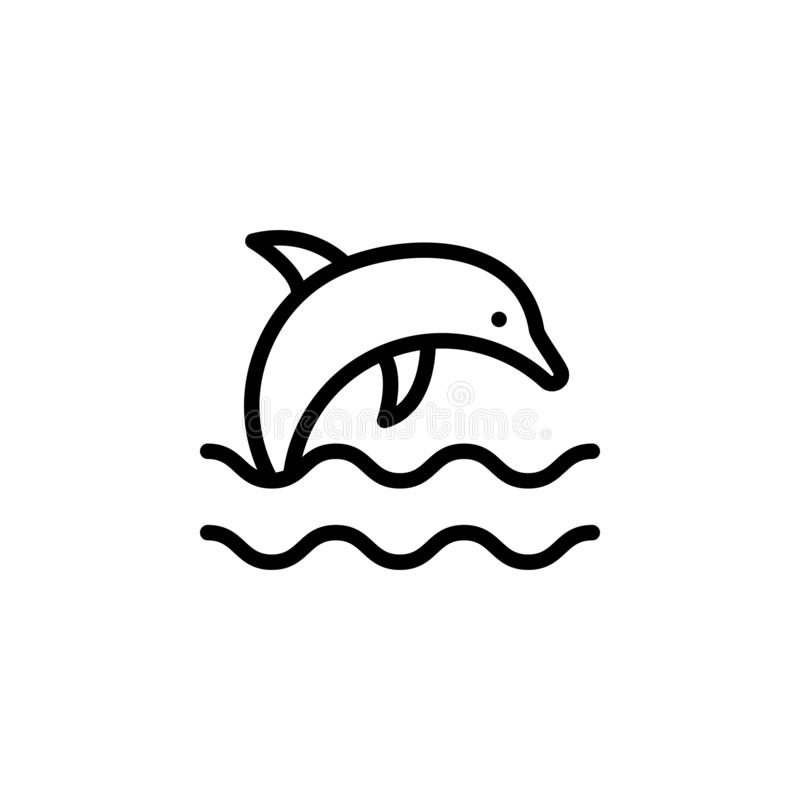 Dolphin Outline Stock Illustrations.