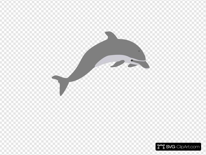 Dolphin Outline Grey Clip art, Icon and SVG.