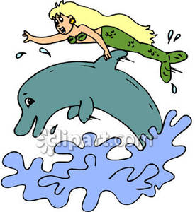 and Dolphin Jumping Out of Water.