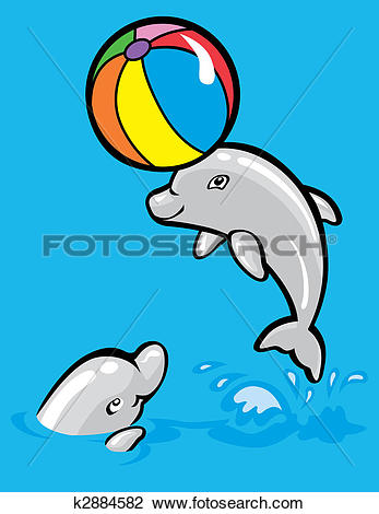 Clipart of Baby dolphins k2884582.
