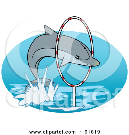 Dolphin show clipart #17