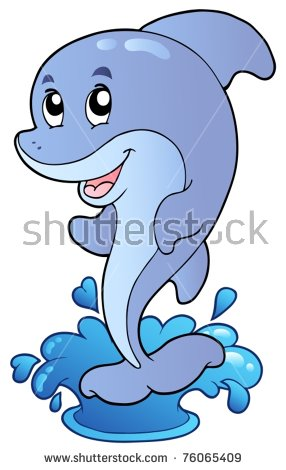 Dolphin Cartoon Stock Images, Royalty.