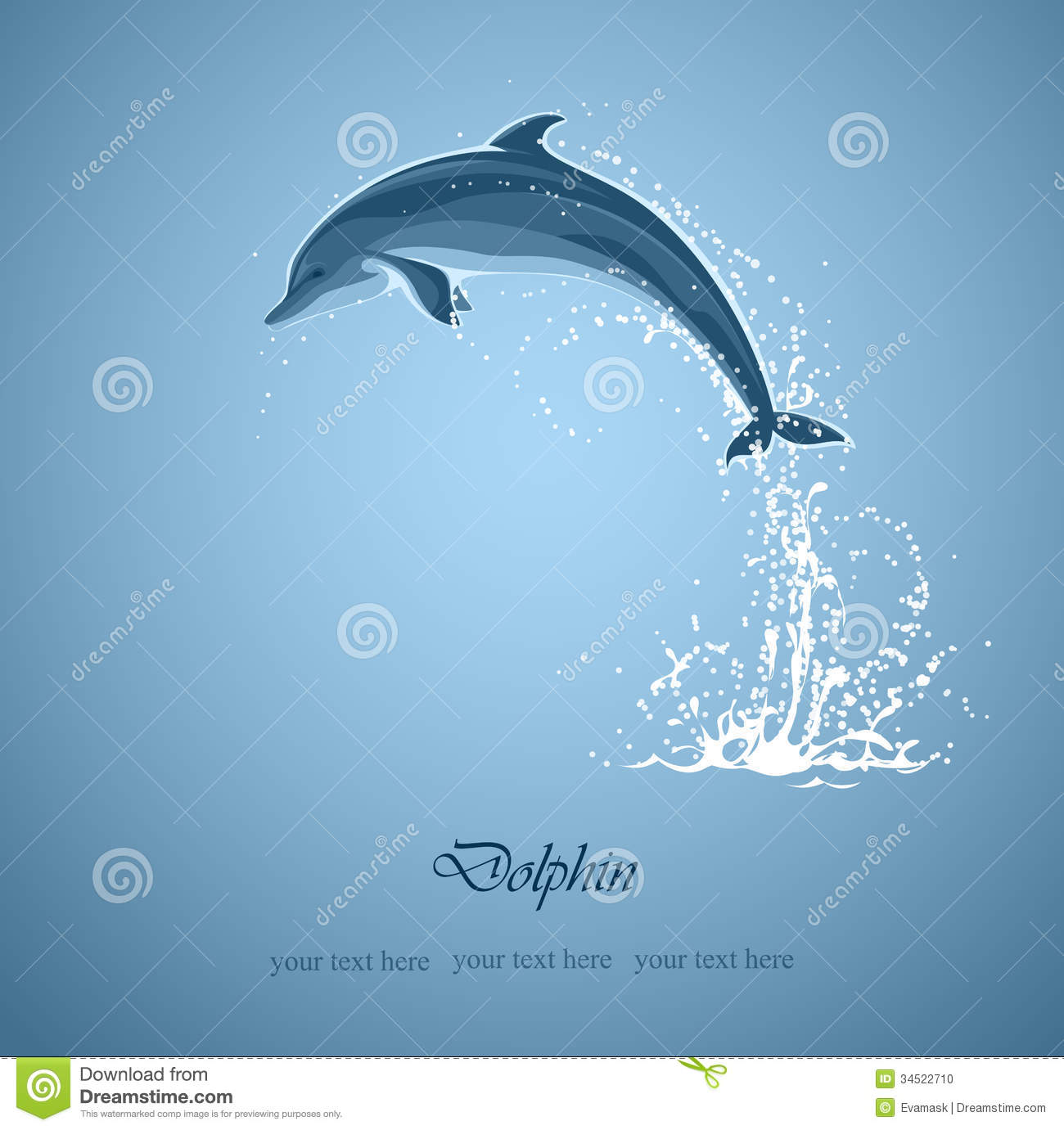 Dolphin Jumps Stock Photo.