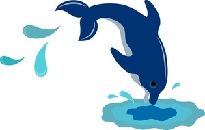 Dolphin Splash Clipart.