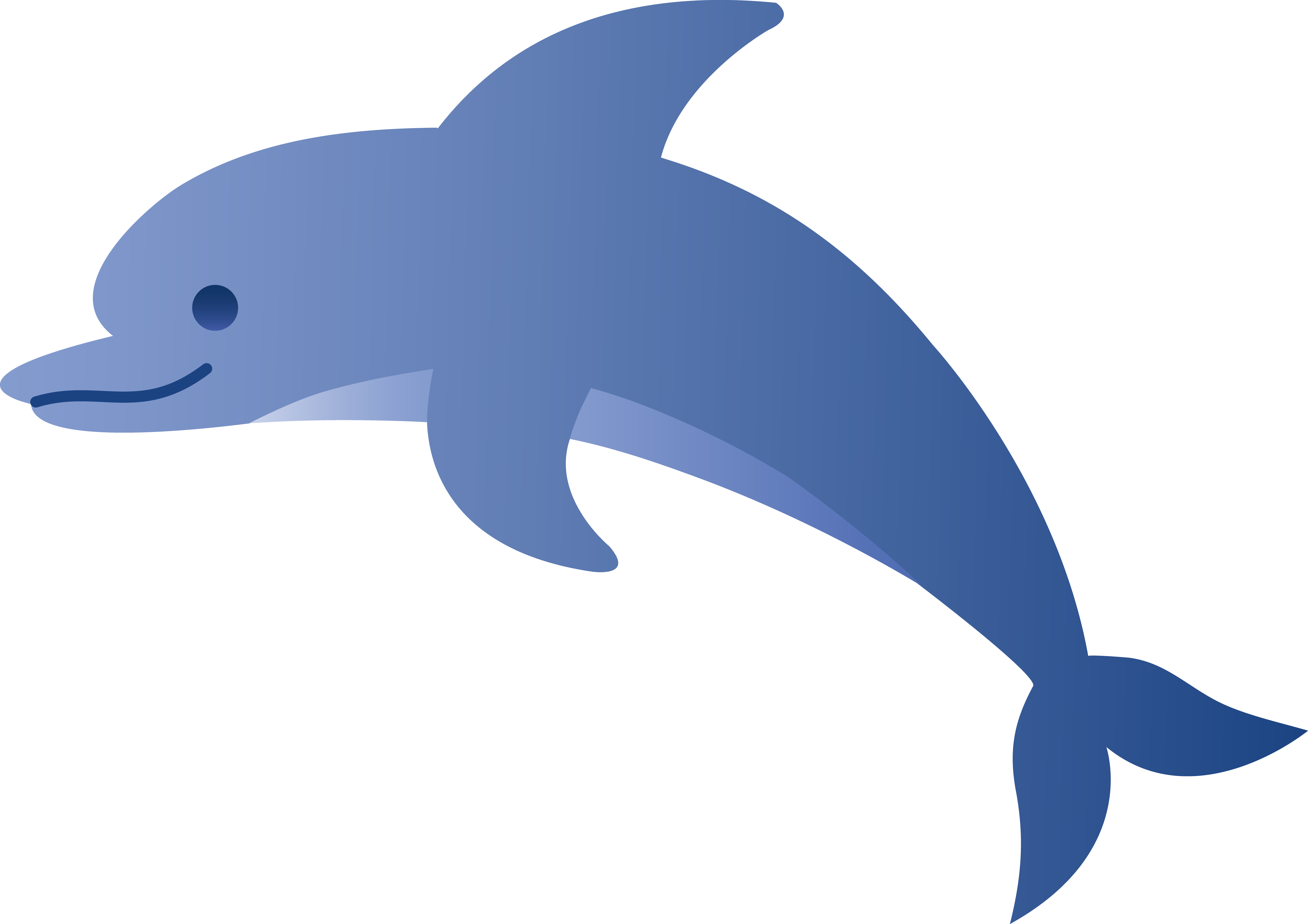 Cute Blue Dolphin Free clipart free image.