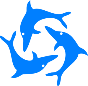 Green Dolphins Clipart.