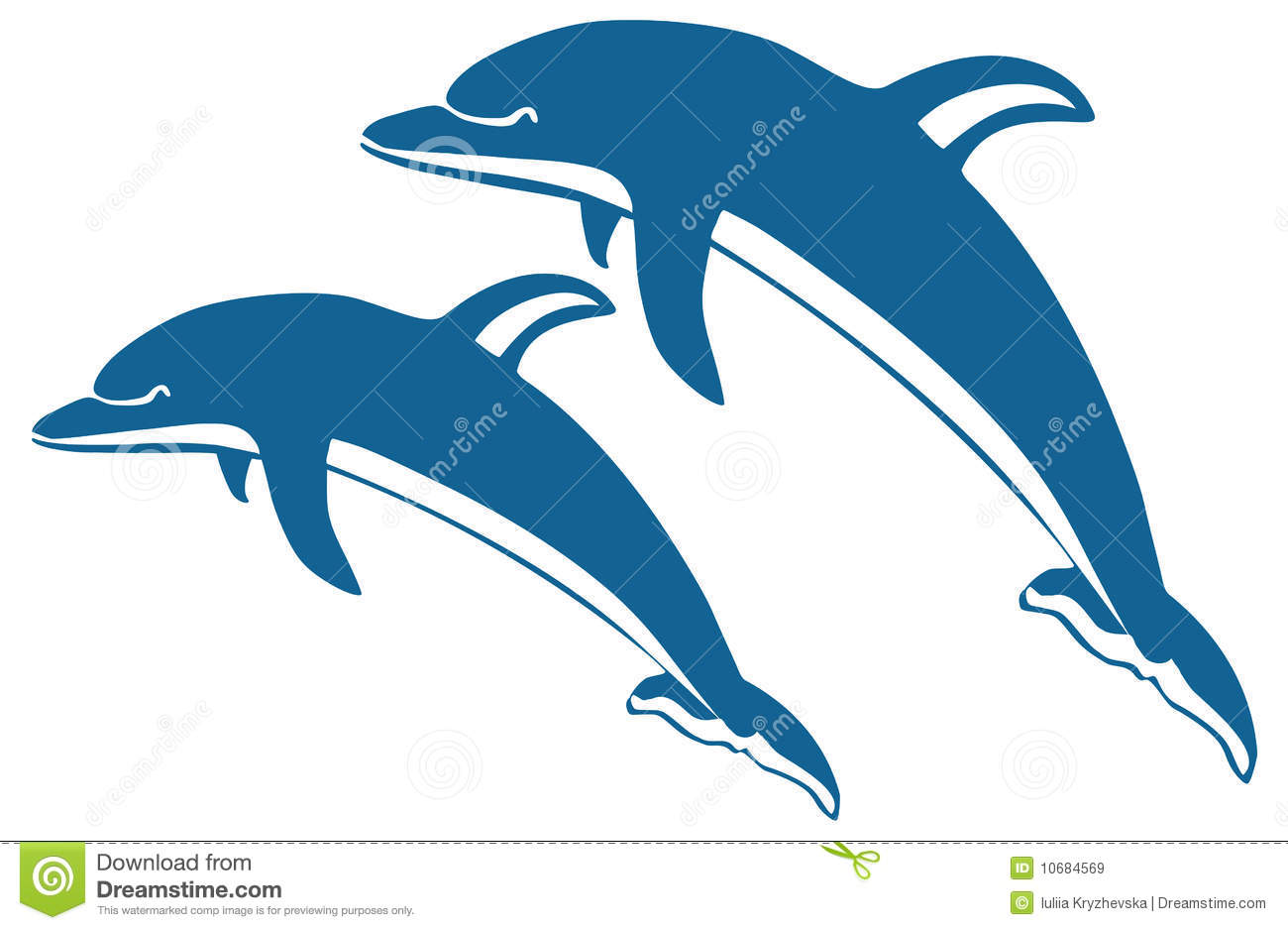 Clip Art Dancing Dolphins Clipart.