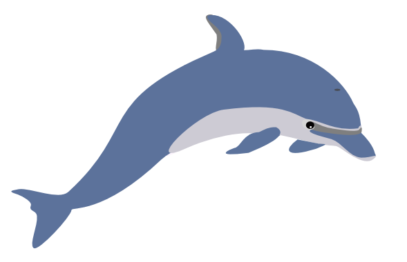 Free Clipart Dolphin.